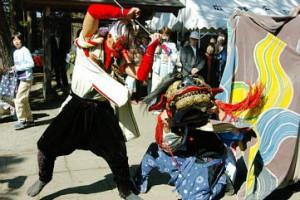 上市町広野獅子舞