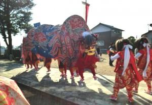 宮森下村の獅子舞