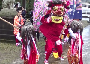 宮森下村の獅子舞(砺波市) @ 大森清水川神社の地域