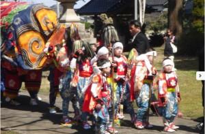 梅原の獅子舞(南砺市) @ 熊野神社