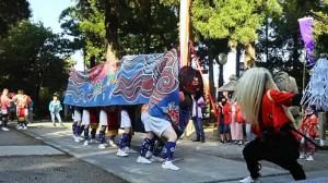 三ケ錦町の獅子舞[射水市]
